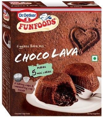 Funfoods Egglees Bake Mix Choc Lava, 320g
