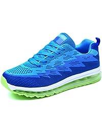 save off da45f c52df Uomo Scarpe da Ginnastica Donna Sneakers Basse da Corsa Fitness Sportivi  Lacci Knit Air Cushion Shoes