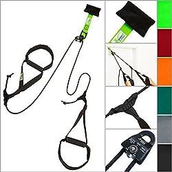 eaglefit® Sling Trainer BASE mit Umlenkrolle und Türanker, hell-grün