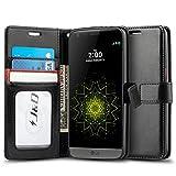 LG G5 Hülle, J&D [Handytasche mit Standfuß] [Slim Fit] Robust Stoßfest Aufklappbar Tasche Hülle für LG G5 - Schwarz