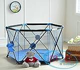Mcc Pop Up Portable Blue Baby Playpen
