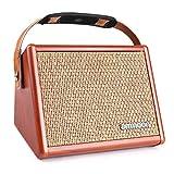 ammoon Gitarrenverstärker Mini Combo Amp Portable Verstärker für Gitarre, 15W Tragbarer Akustikgitarrenverstärker Verstärker BT-Lautsprecher Eingebauter
