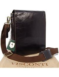 Sac Gibecière en cuir signé Visconti (18563)