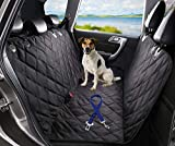 ChicPet UK Premium Dog Car Seat Cover, For Pets and Kids with Pet Seat Belt Lead and Storage Bag, Waterproof, Washable, Non Slip, Fits all vehicles, Black