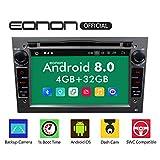 eonon GA9154B Android 8 fit Opel Antara Astra corsa Meriva Vectra Zafira 17,8 cm 7' 2Din Car Indash Digital Audio Video Stereo Autoradio Touchscreen DVD GPS Bluetooth USB RDS FM Headunit grigio