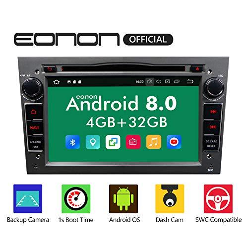 "GA9154B Android 8 fit Opel Antara Astra Corsa Vectra Zafira 17,8cm 7\"" Touchscreen Indash Car Digital Audio Video Stereo Autoradio DVD GPS Bluetooth USB SD FM AM RDS Headunit Grau"