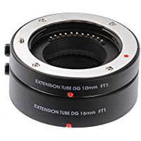 Ruili tubos de extensión macro metal AF 10 mm 16 mm juego de DG para Olympus Panasonic Micro 4/3 system Camera