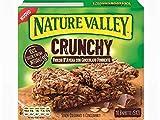 Nature Valley Crunchy Barrette Fiocchi d'Avena Integrale e Cioccolato Fondente Senza Coloranti e Conservanti Naturalmente Senza Lattosio Adatte ai Vegetariani - 2 x 210 Gram (2 x 10 barrette)