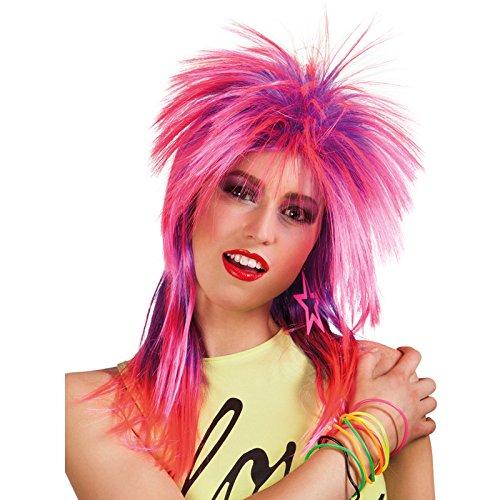 PARTY DISCOUNT NEU Perücke Rockstar Kimberly, rosa-lila meliert -