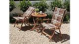 baumarkt direkt Gartenmöbelset Borkum, 5-tlg, 2 Hochlehner, Tisch Ø 65 cm, Eukalyptusholz, braun braun