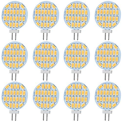 G4 LED Glühbirne DC/AC 12V, 3W, 400 Lumen, Warmweiß 3000K Entspricht 30W Halogenbirne, G4 Bi-Pin LED Birne für Kit, Indoor, Wohnmobil Wohnmobil, Marine Boot (12er Pack). [Energieklasse A ++] - Lumen Glühlampe Baugruppe