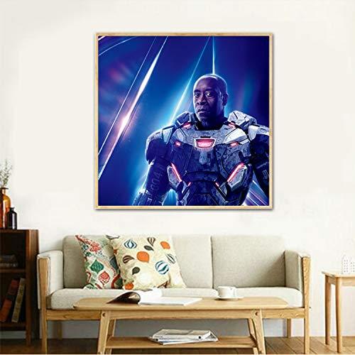 taoyuemaoyi Poster di Film Avengers Infinity War Marvel Hero Hulk Iron Man Immagini A Parete per Soggiorno Thor Kids Room Ragazzi Wall Art Stampa 50 * 50Cm