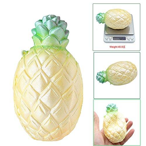 Preisvergleich Produktbild squishy jumbo ananas duftende creme super langsam steigende squeeze spielzeug heilung spielzeug- stress für kinder-kawaii soft toys kinder weiche mini tiere party geschenk (11.8*6.5cm,  Gelb)