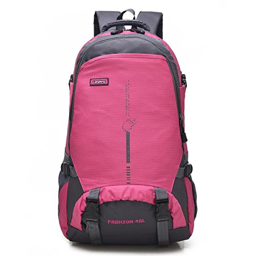 Bergsteigen Backpack Erholung frei Oxford Fabric Large Kapazität Multifunktions Rucksack Klettern reisen ritt Tasche Business Student Pack 6Colors H58 x W35 x T20 CM Red