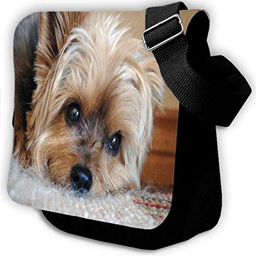 Cani 10056, Terrier, Unisex Nero Sublimazione Borsa