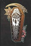 Journal: Grim Reaper Casket Tattoo Design Dot Grid Tattoo Flash Sketching Journal