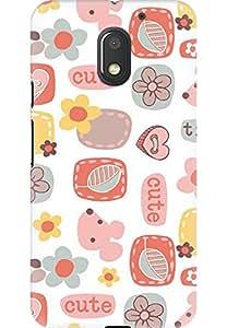 Amez designer printed 3d premium high quality back case cover for Motorola Moto E3 Power (cute crazy )