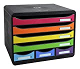 Exacompta 307798D - Caja organizadora, 7 cajones, color multicolor