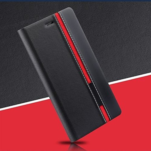 Customised New Design Perfect Fitting Flip Case Cover for Lenovo A7000 / K3 Note - Black Color