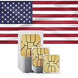 travSIM USA Prepaid Daten SIM Karte + 1GB für 30 Tage im AT&T Netz - Standard,Micro & Nano SIM