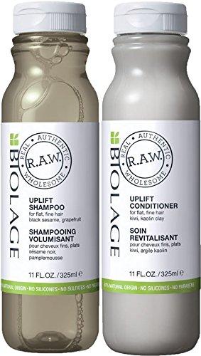 Matrix Biolage R.A.W. Uplift Volume et purifiant Shampooing 300 ml et après-shampoing 300 ml Duo Value Lot de