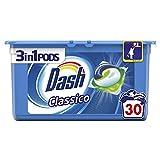 Dash 3 in 1 Pods Detersivo in Capsule Classico, 30 Lavaggi
