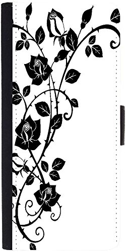 Snoogg Vector Graphic Of Rose With Leaves Designer Protective Phone Flip Case Cover For Lenovo Vibe X3
