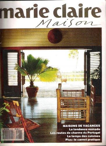 MAISON DE MARIE CLAIRE (LA) [No 276] du 01/08/1991 - MAISONS DE VACANCES - LA TENDANCE NOMADE - LES ROUTES DE CHARME DU PORTUGAL - LE TEMPS DES CUISINES - LE CARNET PRATIQUE.