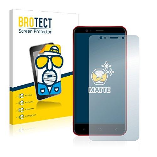 BROTECT Schutzfolie Matt kompatibel mit Elephone P8 Mini [2er Pack] - Anti-Reflex, Anti-Fingerprint, Anti-Kratzer