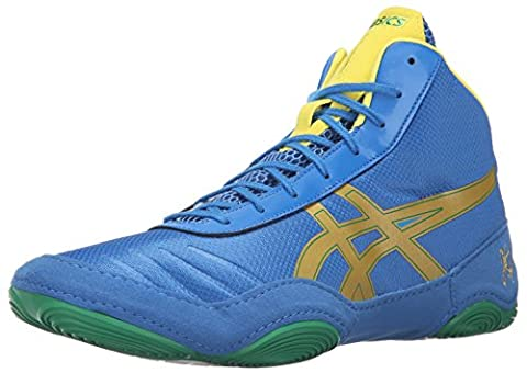 ASICS Men's JB Elite V2.0 Wrestling Shoe, Classic Blue/Rich Gold/Sun,