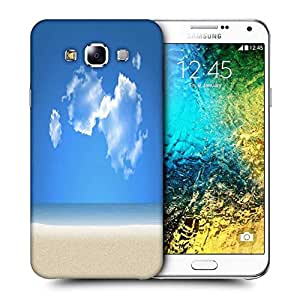 Snoogg Blue Sky Printed Protective Phone Back Case Cover ForSamsung Galaxy E7
