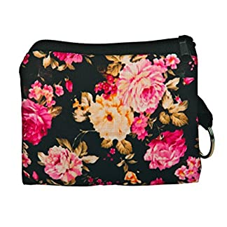 Estuche para Llaves con Anillo Monedero Cartera bolsita DISENOS Y Colores DE Moda! Flower