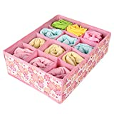 teckpeak 12cellules raggruppabili Chaussettes linge Armoire Maison Organisateur Stockage Boîte Boîte