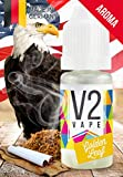 V2 Vape Golden-Leaf-Tabak AROMA/KONZENTRAT hochdosiertes Premium Lebensmittel-Aroma zum selber mischen von E-Liquid/Liquid-Base für E-Zigarette und E-Shisha 10ml 0mg nikotinfrei