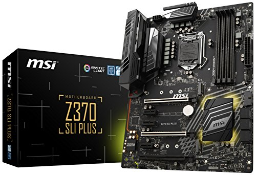 Z370 SLI PLUS, LGA 1151, HDMI, DDR4, 2x Turbo M.2 + 10x USB 3.1(2x Gen 2 + 8x Gen1) bei Amazon