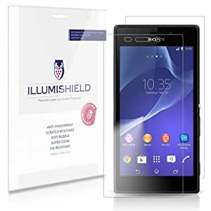 iLLumiShield - Sony Xperia M2 Screen Protector & Full Body Skin Front+Back Japanese Ultra Clear HD Film with Anti-Bubble and Anti-Fingerprint - High Quality (Invisible) LCD Shield - Lifetime Replacement Warranty - [3-Pack] OEM / Retail Packaging