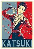 "Poster Yuri on Ice ""Propaganda"" Katsuki - Formato A3 (42x30 cm)"