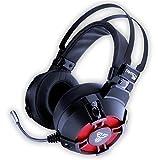 Gamer USB Kopfhörer - 7.1 Surround Sound + Geräuschisolierung - High Definition Audio + Leistungsstarker Bass Kopfhörer mit Mikrofon für Gaming PC