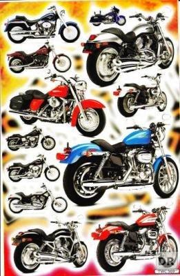 moto-bike-autocollants-12-pieces-1-feuilles-270-mm-x-180-mm-stickers-bricolage-enfants-party
