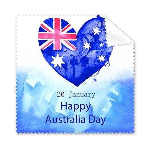 DIYthinker Australien Flavor Happy Australia Day Herz-Form-Flagge Illustration Brillenputztuch-Reinigungstuch Telefon Screen Cleaner 5pcs
