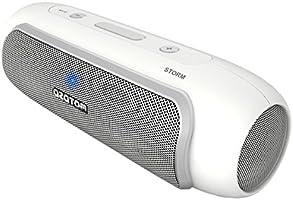 AZATOM Storm - Powerful Bluetooth 4.0 speaker - Unique Design with NFC + High Quality 24 Watt Speaker - Upto 20hrs playtime - White