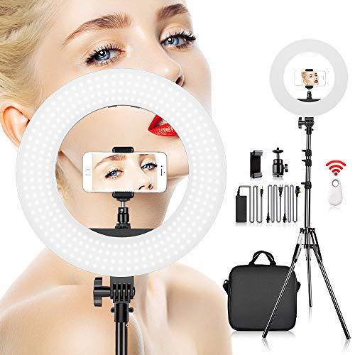 Ringlicht, SAMTIAN LED-YouTube-Leuchte (Ringleuchte) mit 35cm (14 Zoll) Durchmesser, Geeignet für Makeup, Video-Shooting, YouTube-Videos,...