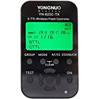 Yongnuo YN-622C-TX E-TTL Funkauslöser für Canon 500D 550D 600D 650D 700D 1000D 1100D 50D 60D 70D 1D 1D2 1D3 1D4 1Ds 1Ds2 1Ds3 1DX 1DC 5D 5D2 5D3 6D 7D Blitzgerät: Canon 580EX 580EXII 600EX, YongNuo 565EX 565EXII 568EX 568EXII