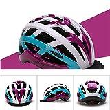 HUOFEIKE Fahrradhelm, Radhelm, Profi-Helm Ventilation, Niedrigwindwiderstand, Adjustable Head Circumference Fahrradhelm (männlich/weiblich) Mountainbike,Purpleblue,54cmto59cm