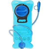 Bolsa de Hidratación DeFe Bolsa de Agua Portátil de 2 Litros para Mochila Running, Vejiga de Hidratación para Correr Ciclismo Marathoner Senderismo Excursionismo, Aprobado por la FDA (Azul)