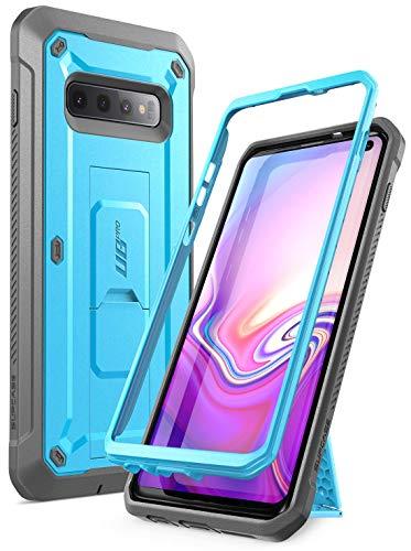 SupCase Hülle für Samsung Galaxy S10 Handyhülle Outdoor Case Bumper Schutzhülle Robust Cover [Unicorn Beetle Pro] OHNE Displayschutz mit Gürtelclip und Ständer 2019 Ausgabe (Blau)