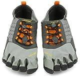 Vibram FiveFingers Herren Trek Ascent Outdoor Fitnessschuhe, Mehrfarbig (Grey/Orange/Black), 46 EU - 8