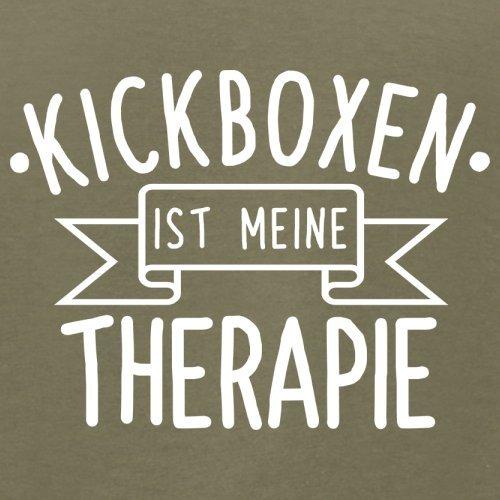 Kickboxen ist meine Therapie - Herren T-Shirt - 13 Farben Khaki