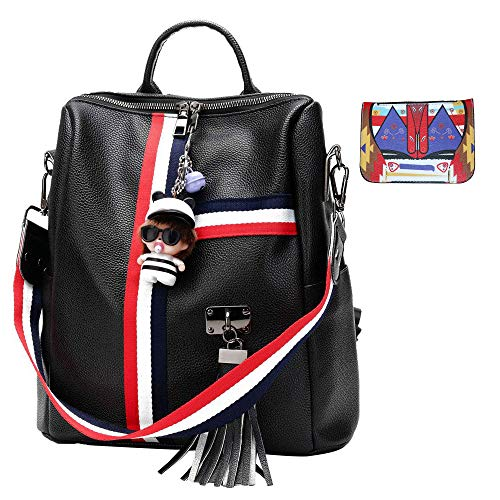 JUND Damen Mode Casual Rucksack Mit Quaste Elegant Daypack Outdoor Travel Backpack Wasserdicht Polyester Schultasche