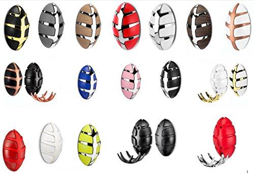 Spinder Design Wandgarderobe Bug klappbare Garderobe Hans Daalder, Farbe:Weiß/Kupfer